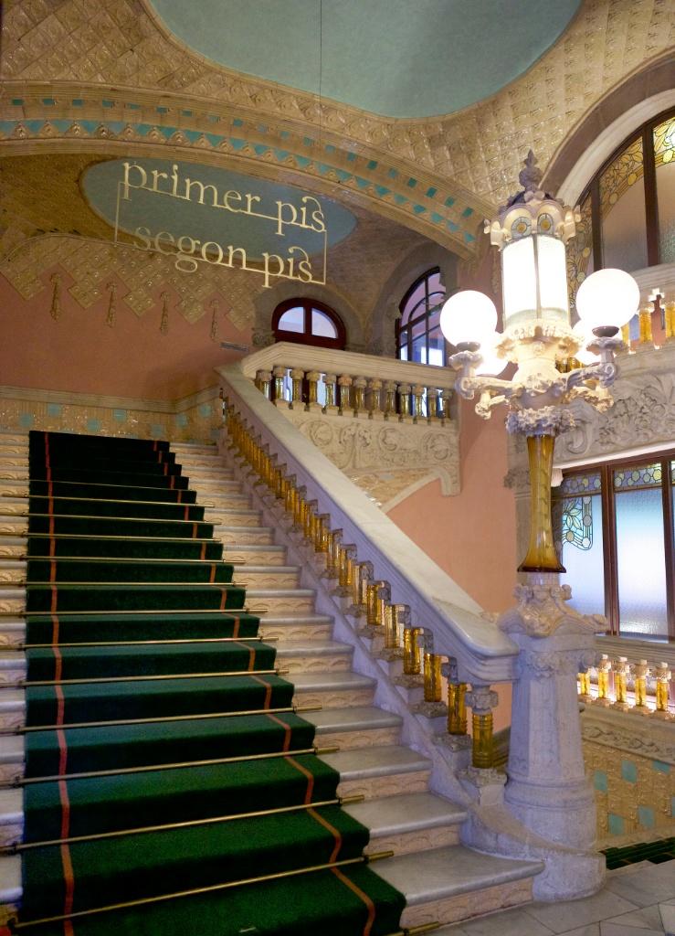 Stairway Palau de la Musica Barcelona