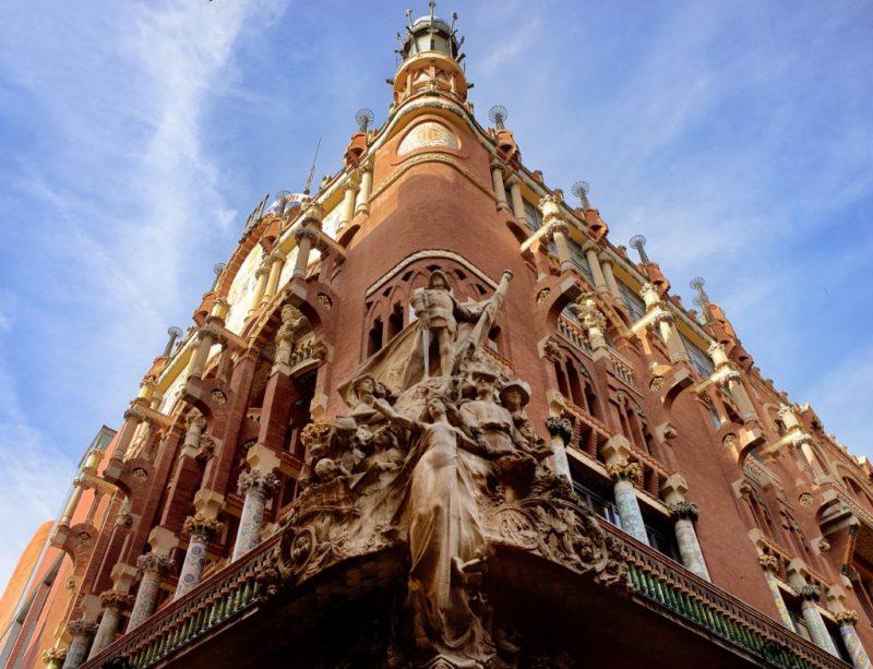 Statues on Facade Palau de la Musica Barcelona