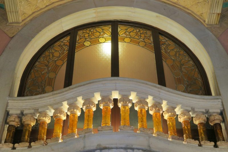 Topaz Glass Balusters Palau de la Musica Barcelona