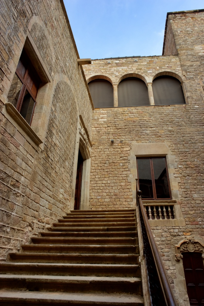Courtyard Stairs Museum of World Cultures Barcelona