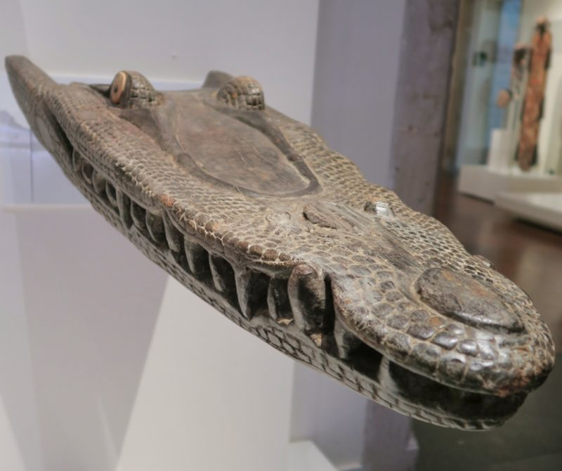 Crocodile Canoe Prow Museum of World Cultures Barcelona