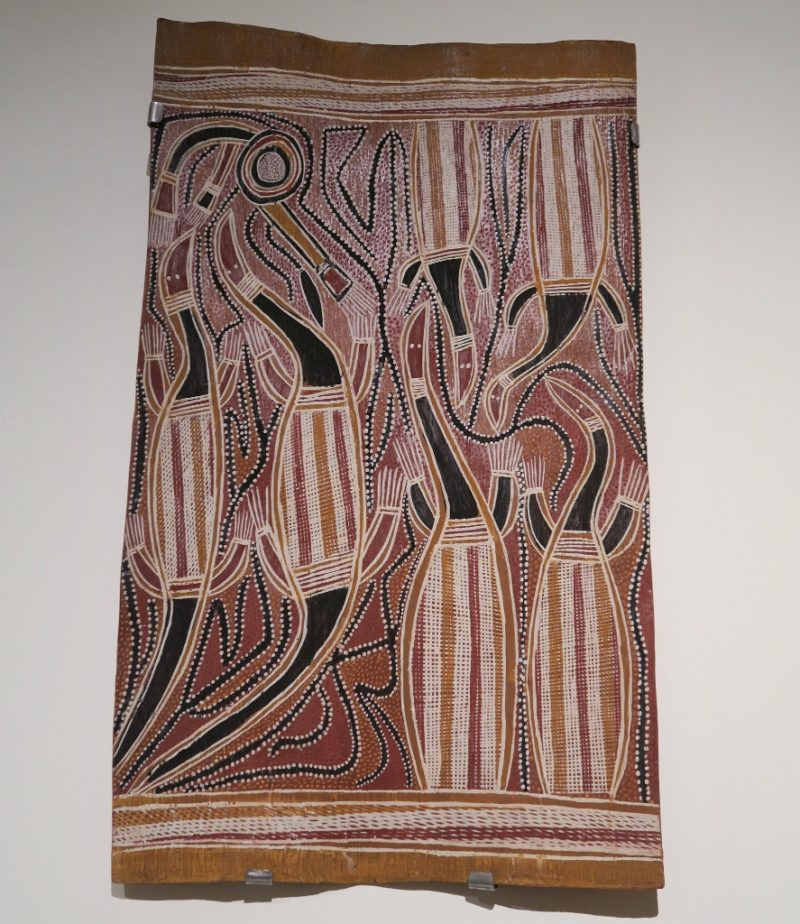 Goanna Dance Bark Painting Museum of World Cultures Barcelona