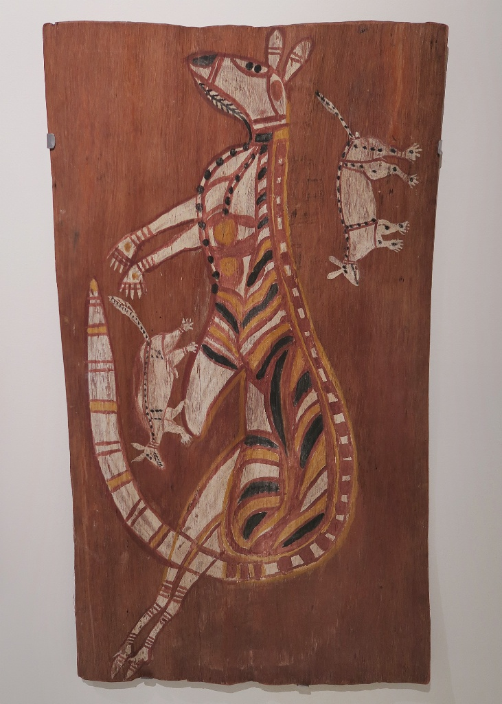 Kangaroo Dance Bark Painting Museum of World Cultures Barcelona