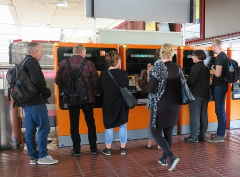 Kiosks at Train Station Barcelona El Prat Airport