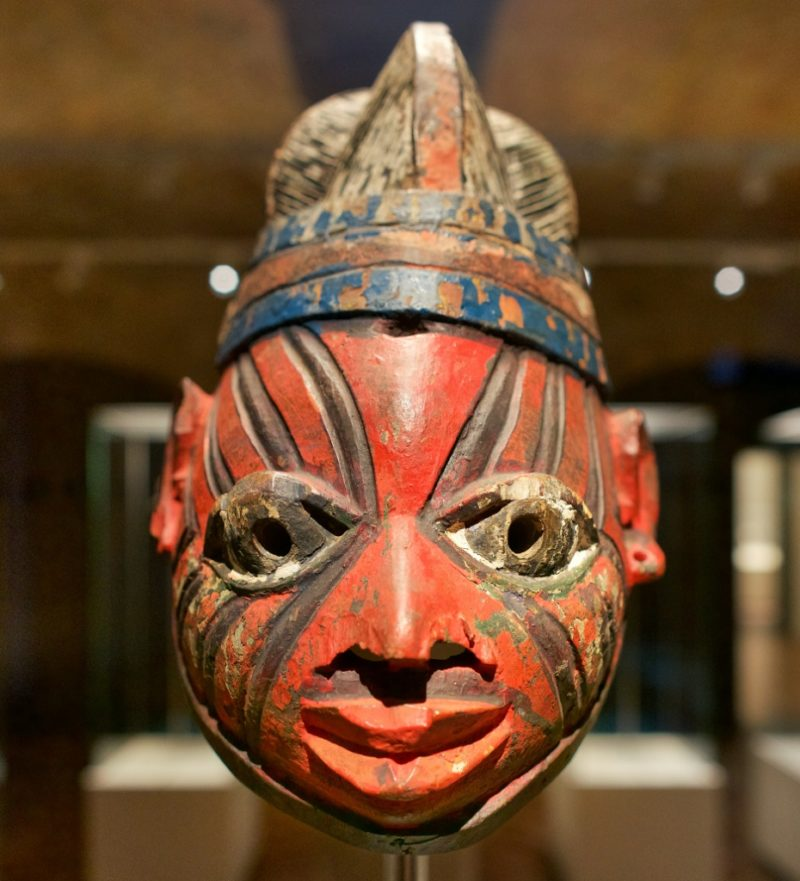 Nigerian Gelede Helmet Mask Museum of World Cultures Barcelona