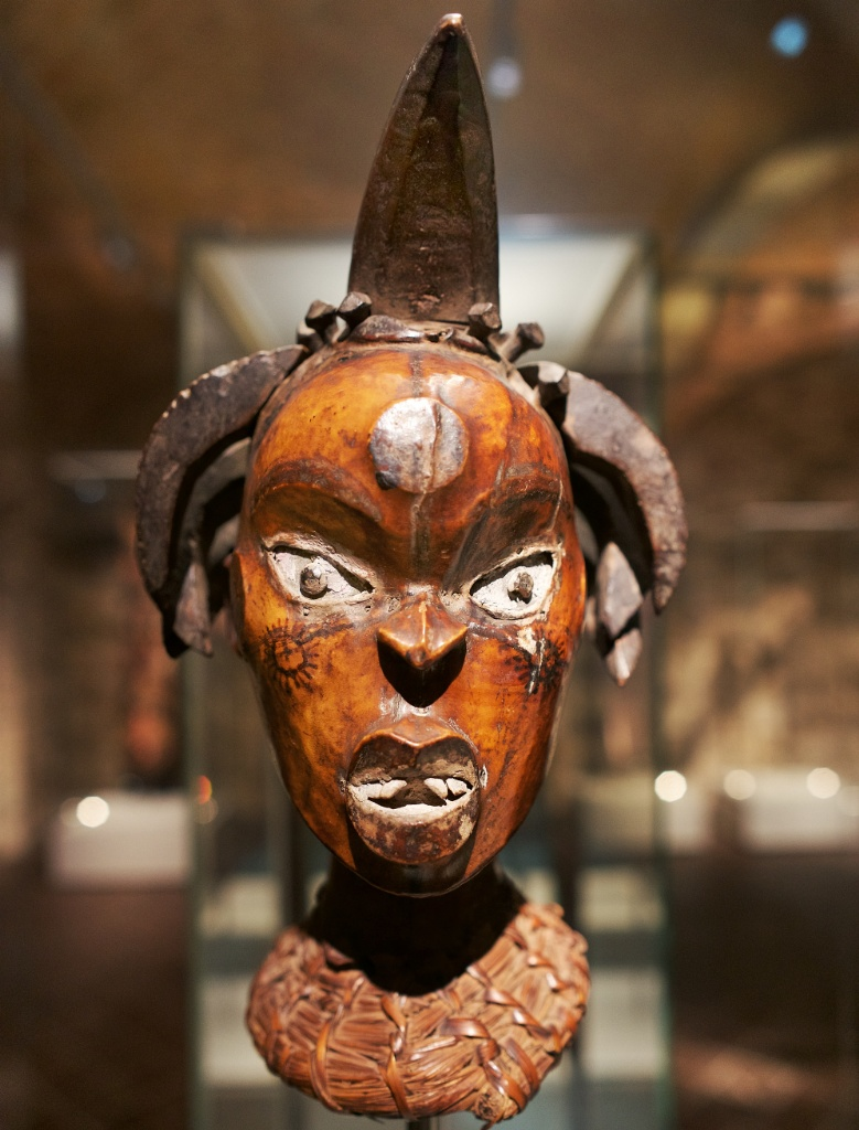 Nigerian Helmet Mask Museum of World Cultures Barcelona