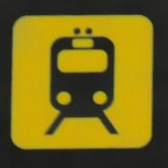Train sign El Prat Airport