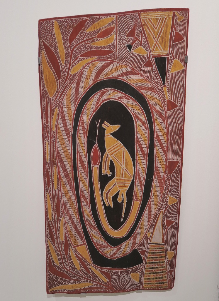 Wallaby and Serpent Bark Painting Museum of World Cultures Barcelona