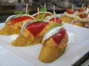 Anchovy and Pimiento Pintxos Figueres Spain