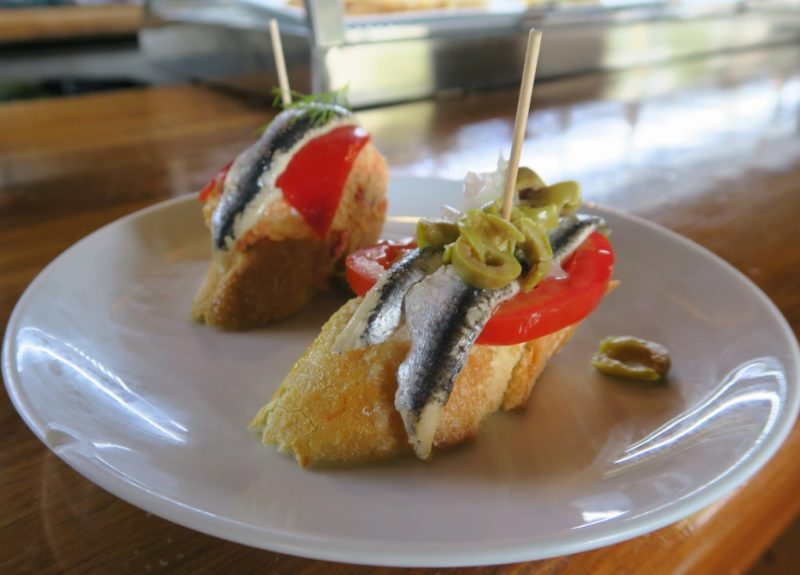 Anchovy and Tomato Pintxo Txots Figueres Spain