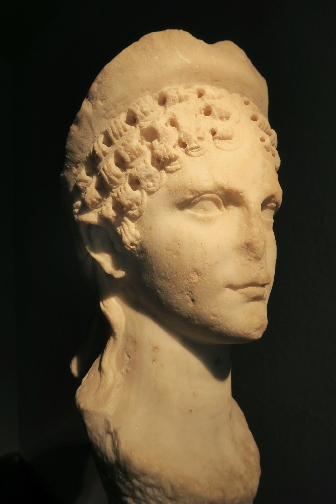 Bust of Empress Agripina Minor MUHBA Placa del Rei Barcelona