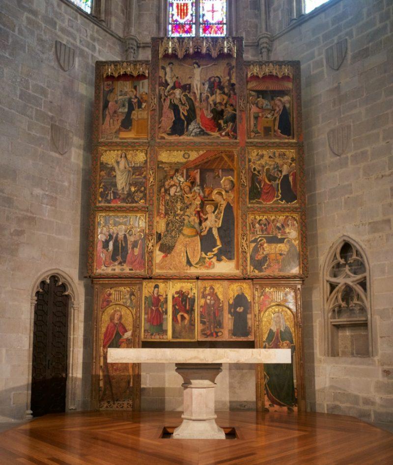 Epiphany Altarpiece MUHBA Placa del Rei Barcelona