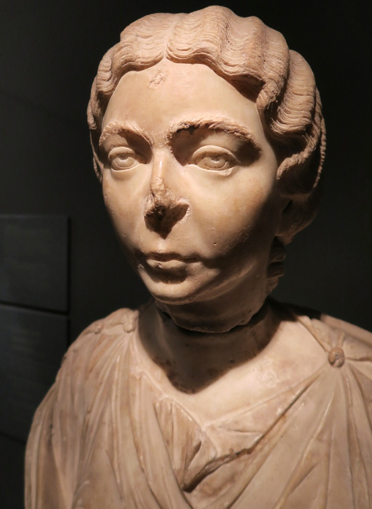 Marble Bust of a Woman MUHBA Placa del Rei Barcelona