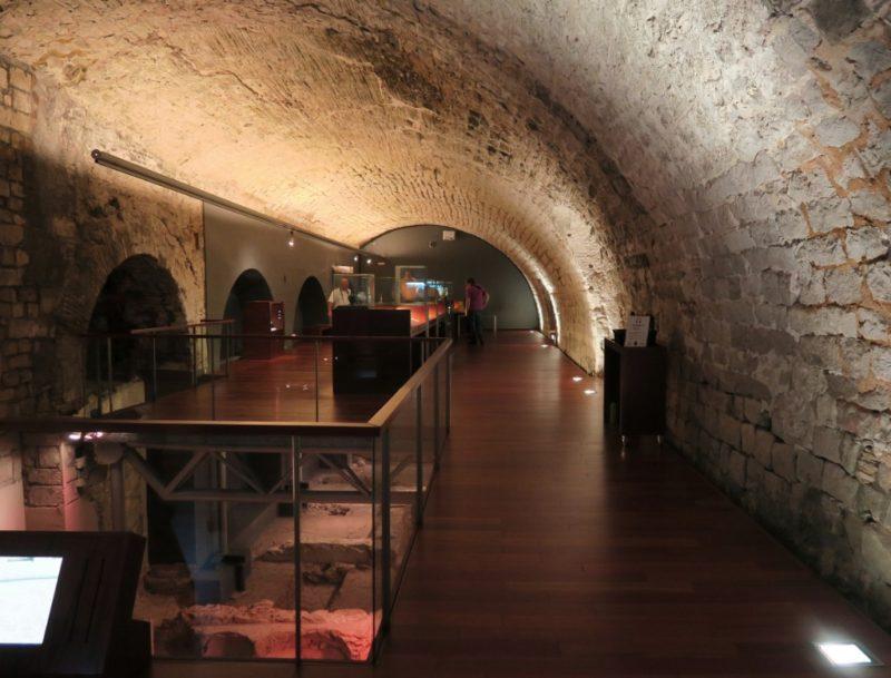 Museum Interior MUHBA Placa del Rei Barcelona