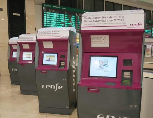 Renfe Ticket Kiosks Barcelona Sants Station