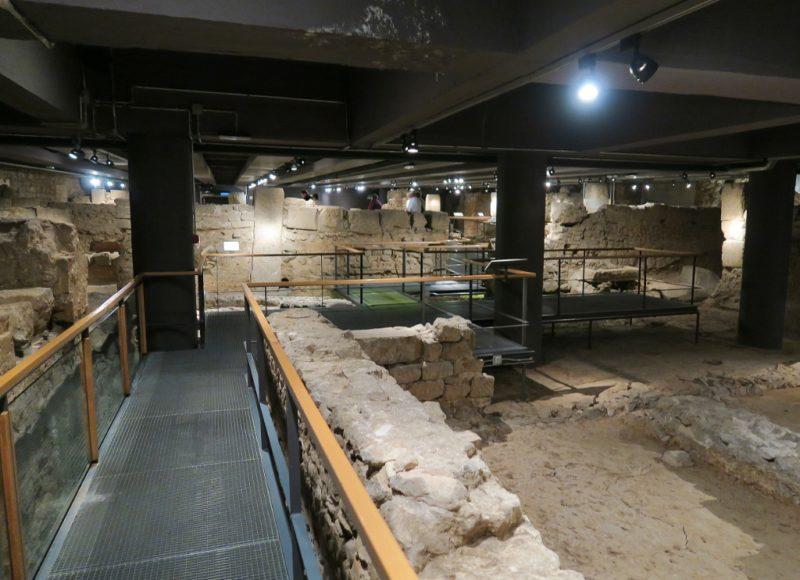 Roman Ruins MUHBA Placa del Rei Barcelona