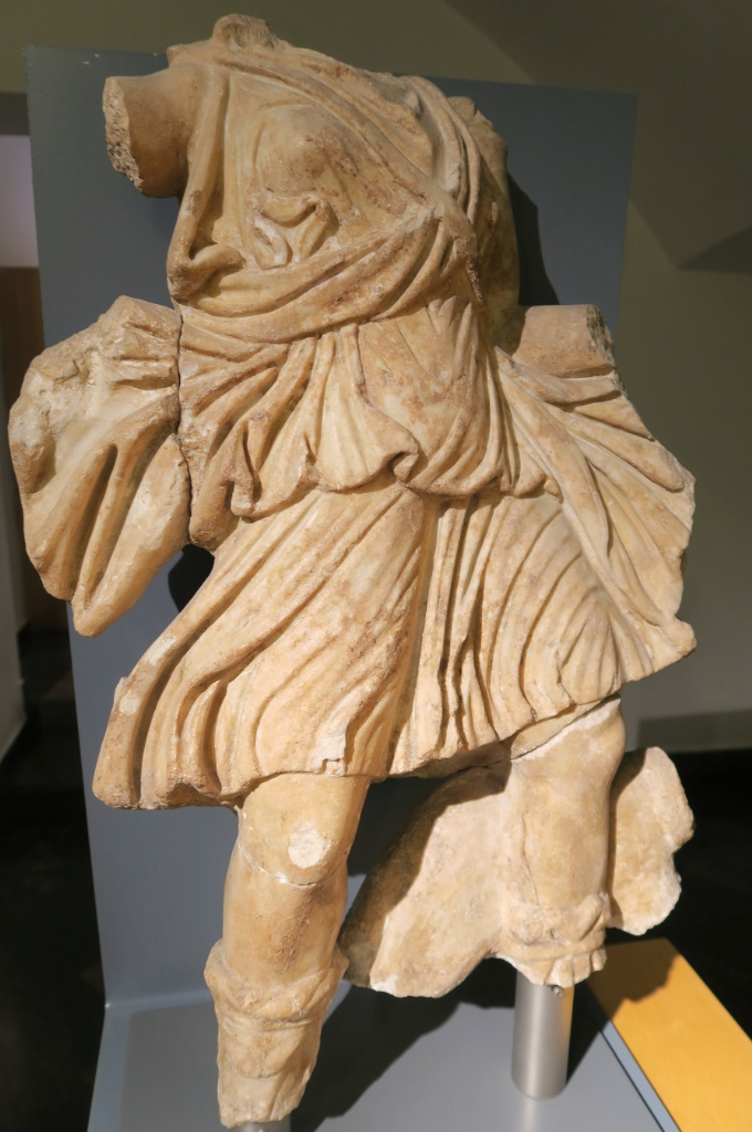 Sculpture of Diana MUHBA Placa del Rei Barcelona