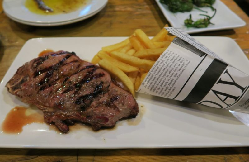 Steak and Fries Txots Sidreria Figueres Spain