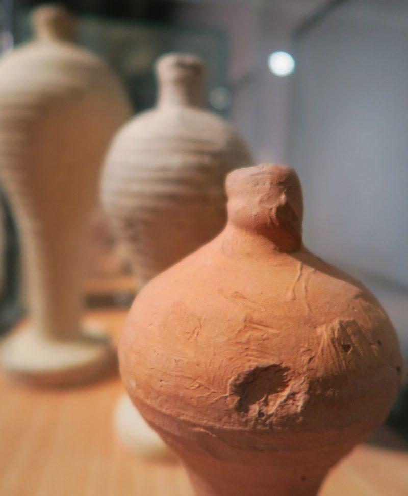 Terracotta Amphora Covers MUHBA Placa del Rei Barcelona