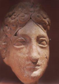 Terracotta Head of Ceres MUHBA Placa del Rei Barcelona