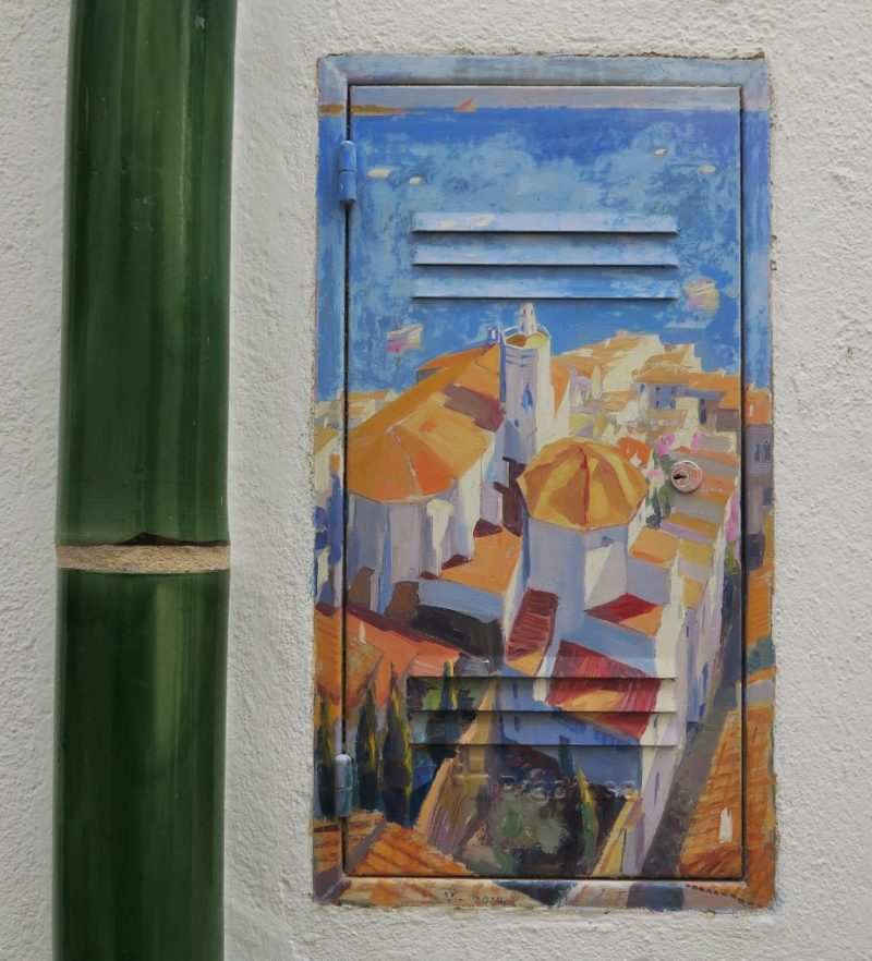 Access Panel Painting of Church of Santa Maria Cadaques Spain