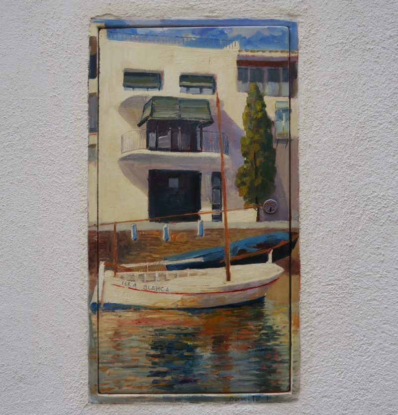 Access Panel Painting of the Illa Blanca Cadaques Spain