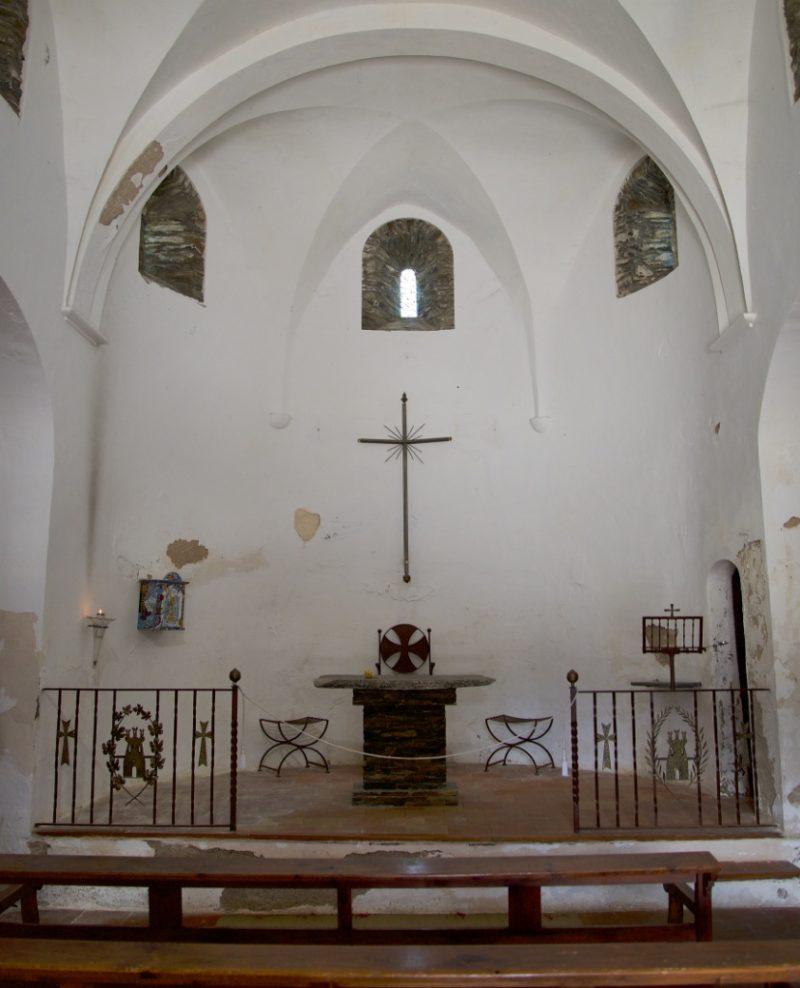 Altar Ermita de Sant Baldiri Cadaques Spain
