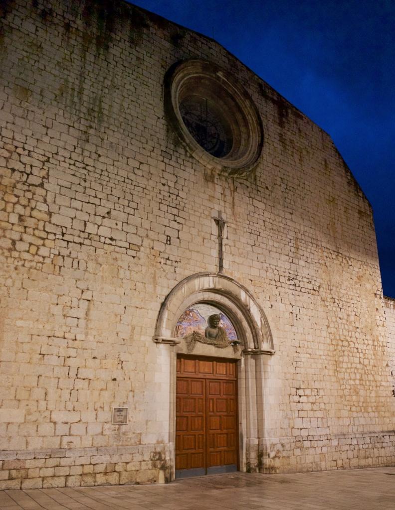 Facade Church of Saint Peter Figueres Spain