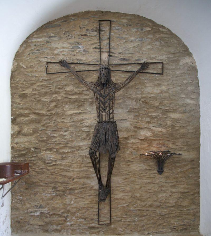 Iron Crucifix Ermita de Sant Baldiri Cadaques Spain