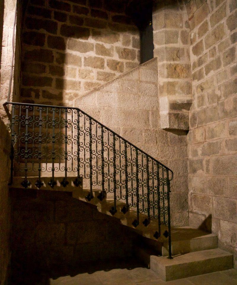 Iron Stair Railing Church of Saint Peter Figueres Spain