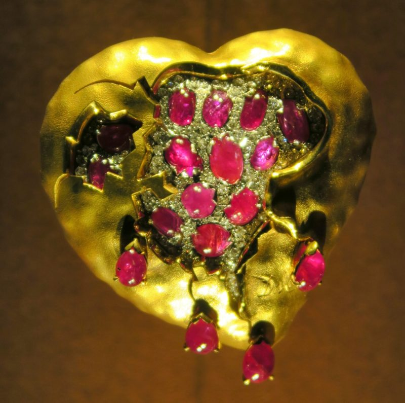 Pomegranate Heart Dali Jewels Figueres Spain