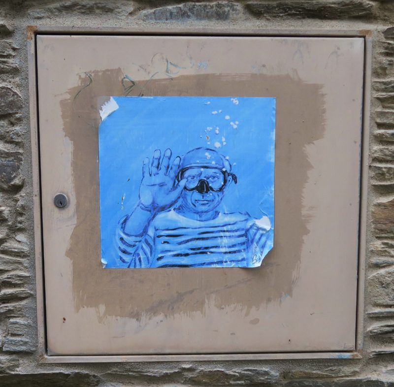Poster of Picasso Underwater Cadaques Spain