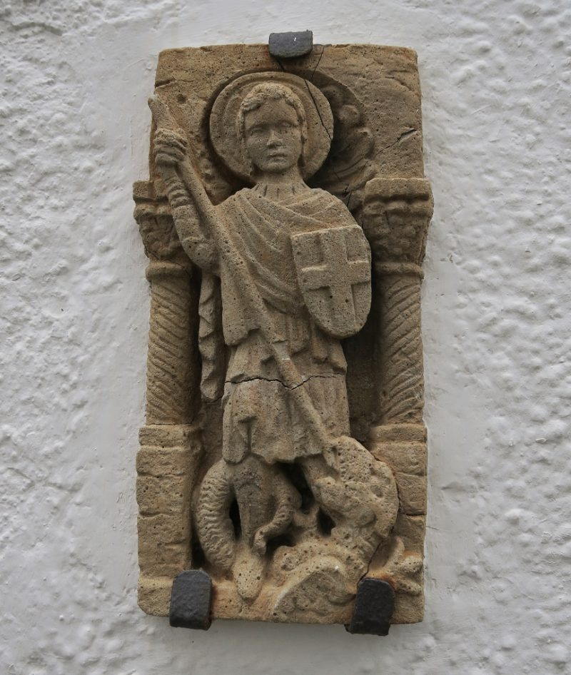Relief of Saint George and the Dragon Cadaques Spain