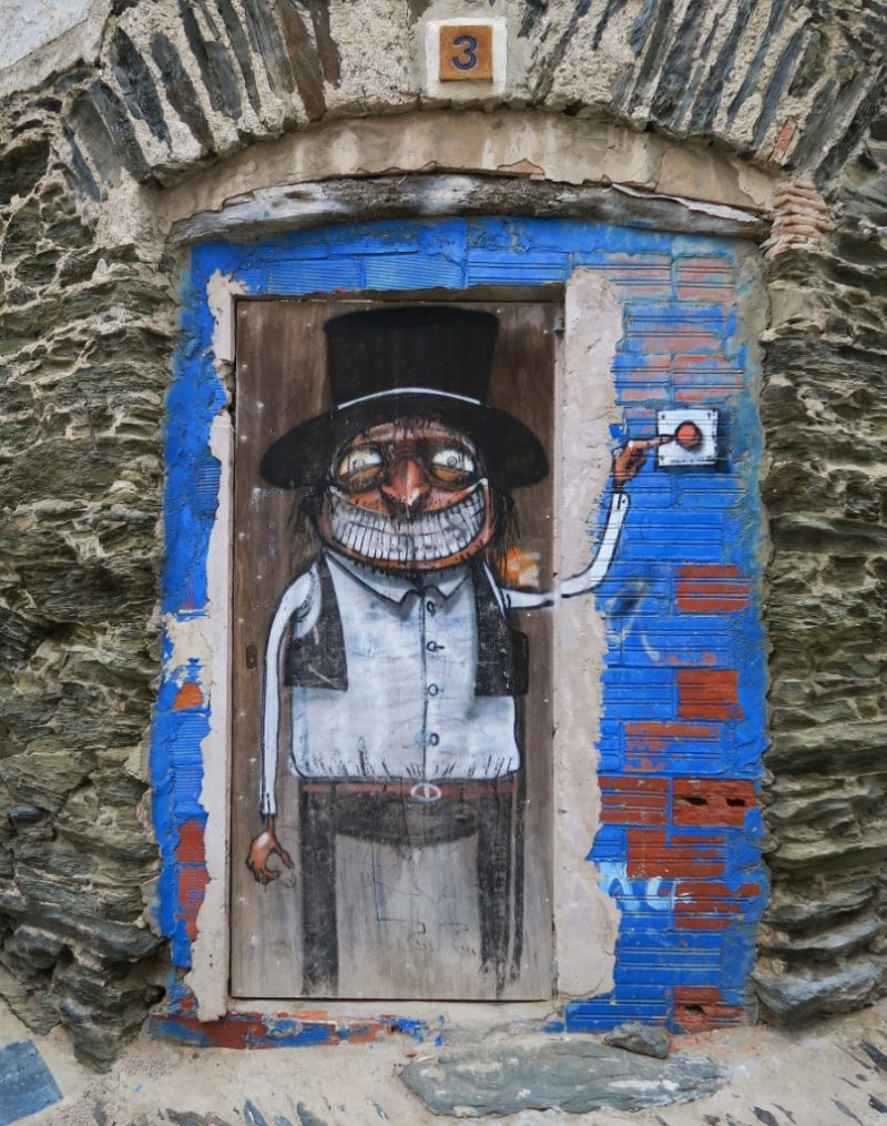 Smiling Man Street Art Cadaques Spain