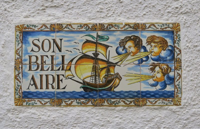 Son Bell Aire Tile Mural Cadaques Spain