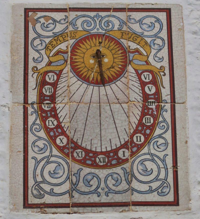 Sun Dial Tile Mural Cadaques Spain