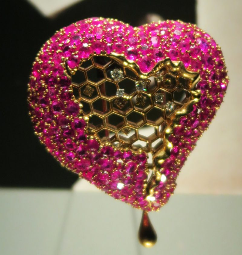 The Honeycomb Heart Dali Jewels Figueres Spain