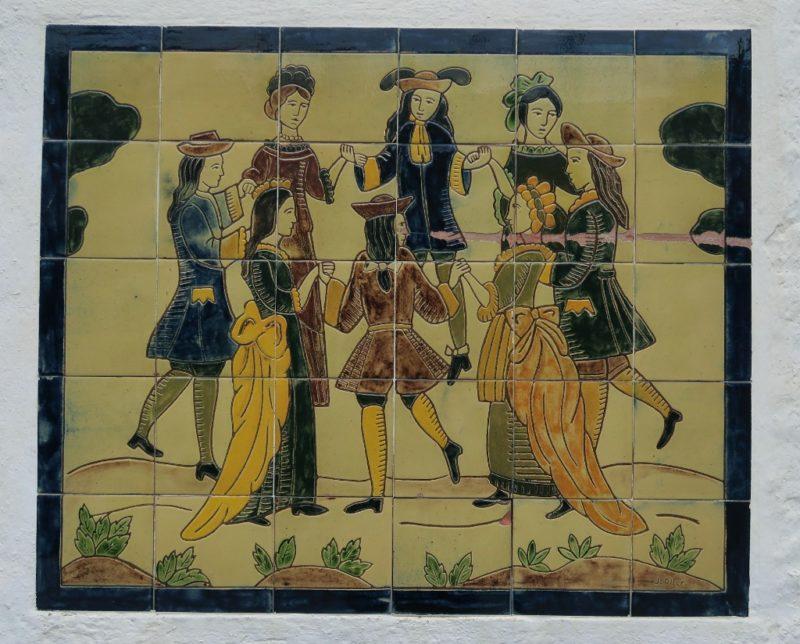 Tile Mural of Dancers Cadaques Spain