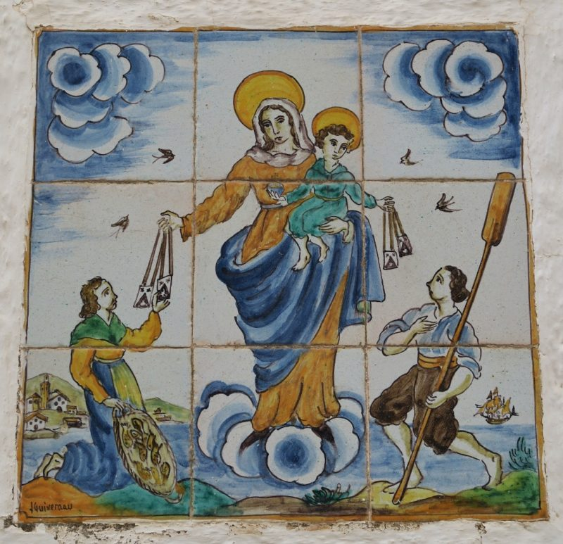 Tile Mural of Mary and Fishermen Cadaques Spain