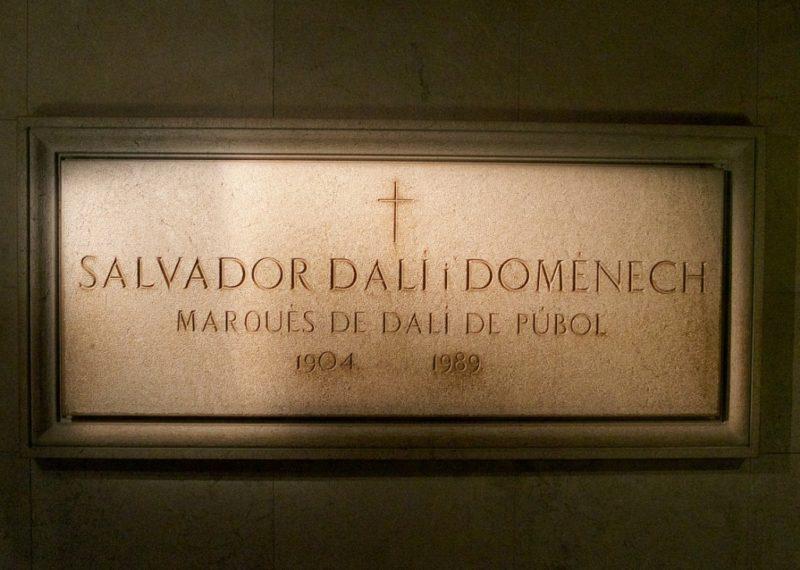 Tomb Dali Theatre Museum Figueres Spain