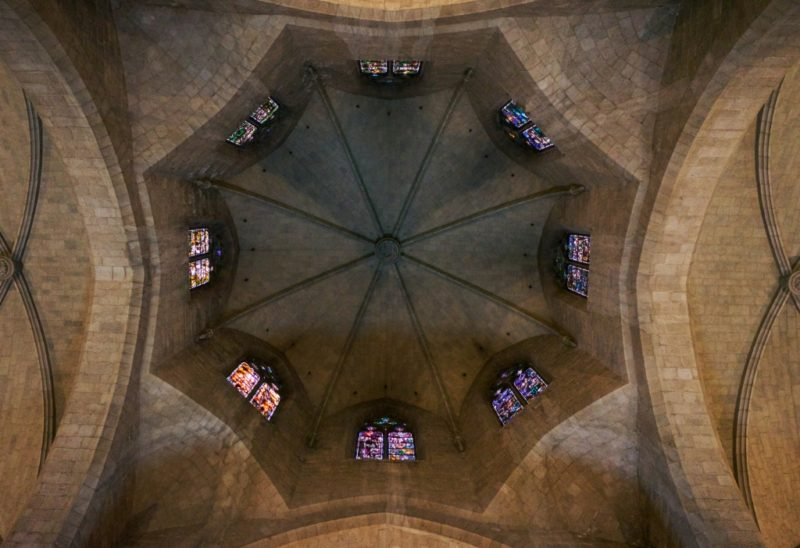 Transept Dome with Windows Church of Saint Peter Figueres Spain