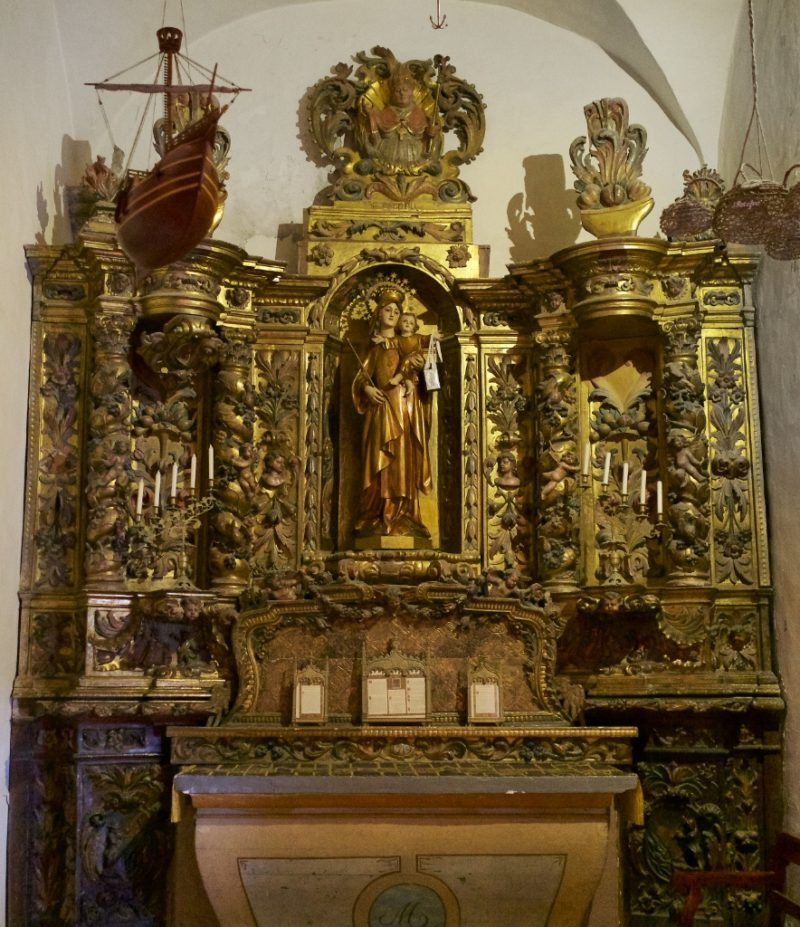 Altarpiece Our Lady of Mount Carmel Church of Santa Maria Cadaques Spain