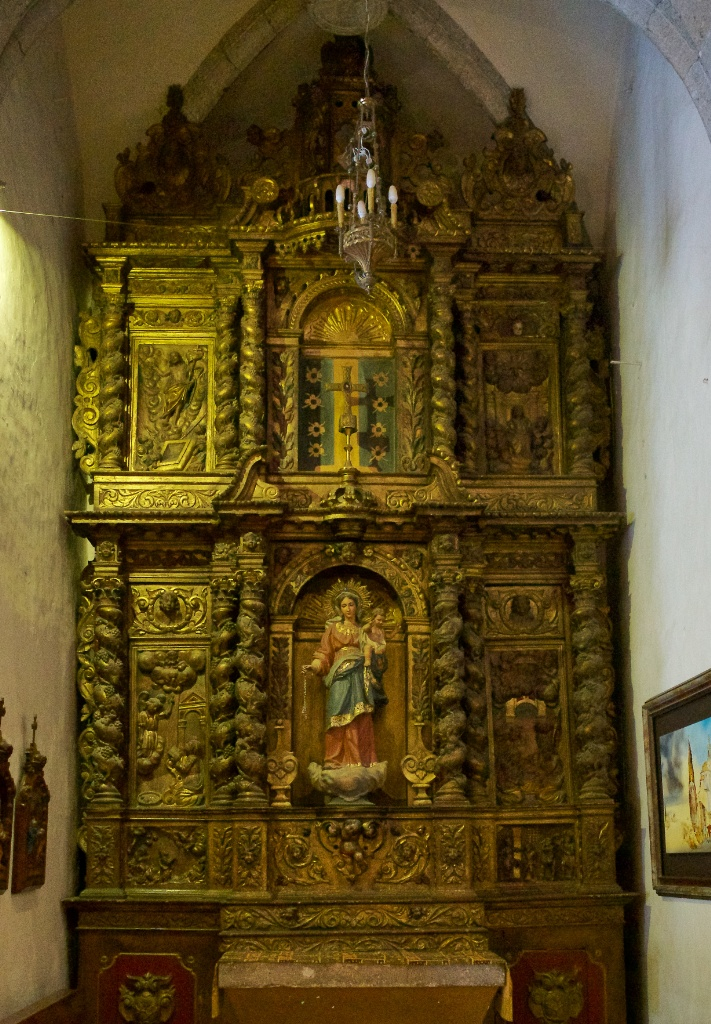 Altarpiece of Our Lady of the Rosary Church of Santa Maria Cadaques Spain