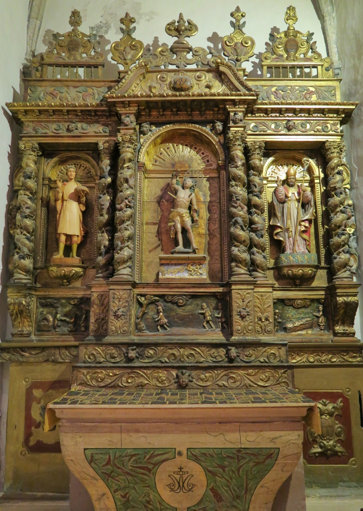 Altarpiece to Saint Sebastian Church of Santa Maria Cadaques Spain