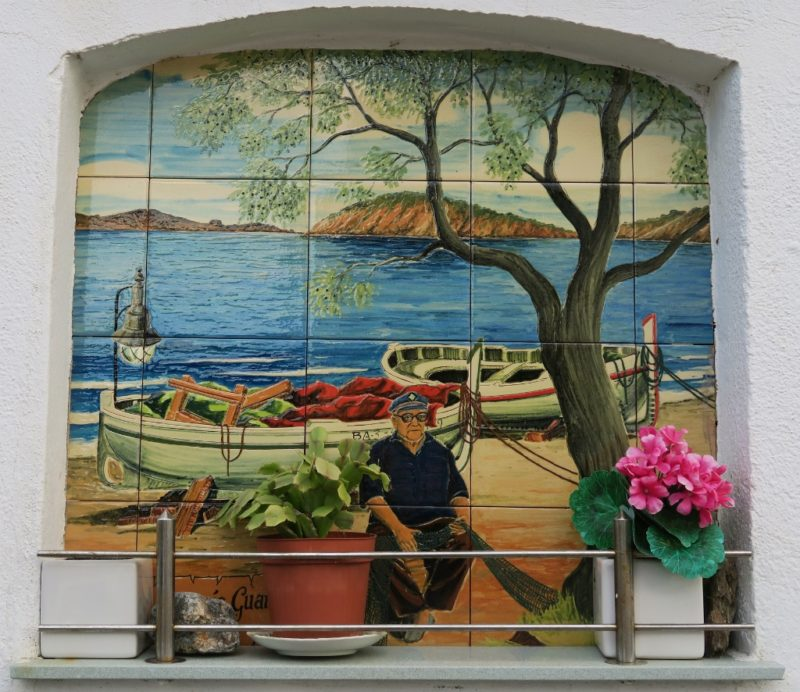 Painted Tomb de Sant Baldiri Cadaques Spain
