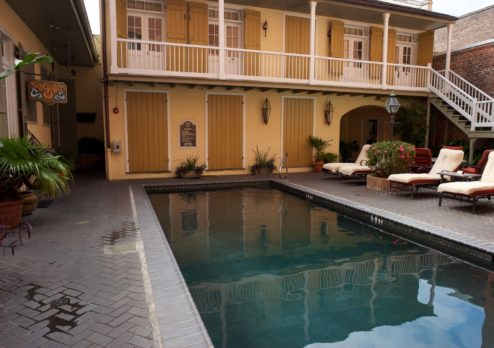 Saltwater Pool Dauphine Orleans Hotel New Orleans