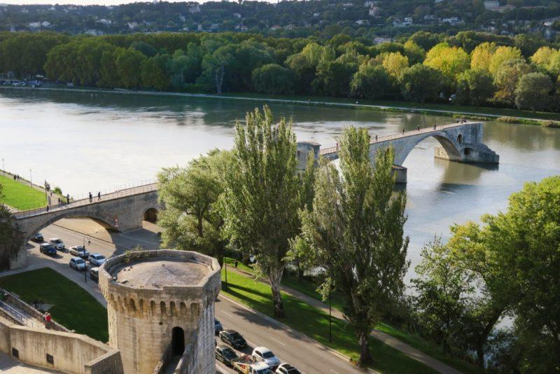 Aerial View Bridge of Avignon
