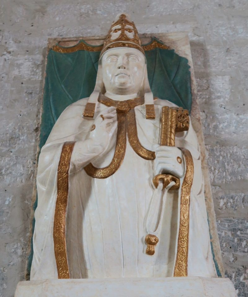 Bust of Benedict XII Palace of the Popes Avignon France
