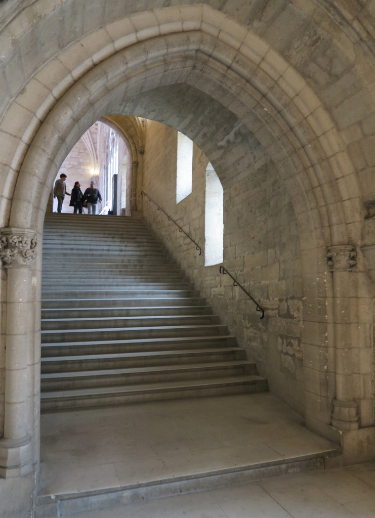 Ceremonial Stairway Palace of the Popes Avignon France