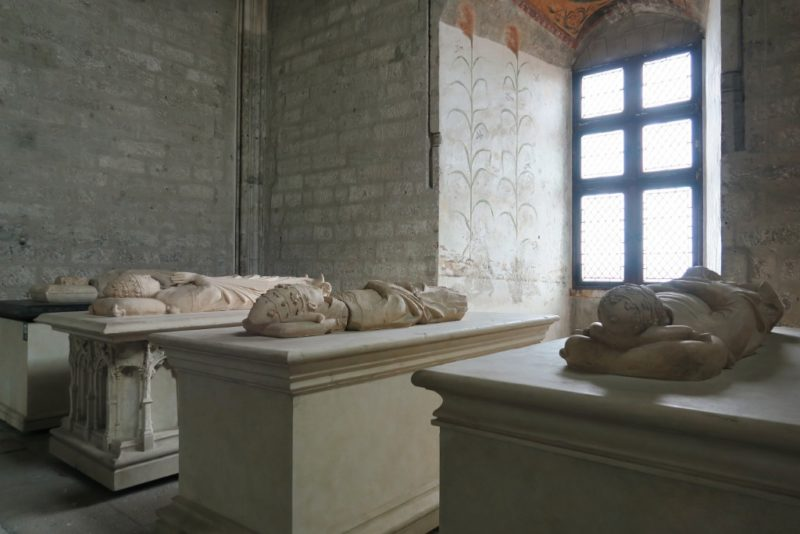 Effigies in South Sacristy Palace of the Popes Avignon France
